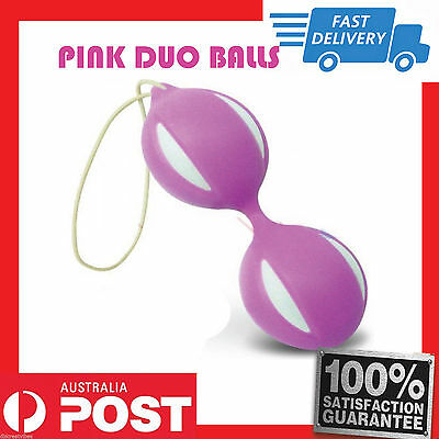 Uni Sex Exercise PINK Duo Balls ~ Smart Balls Kegel Geisha Ben Wa Balls NEW