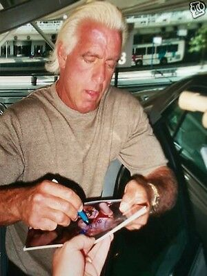 Nature Boy Ric Flair SIGNED Licensed 8X10 Photo WWE WCW