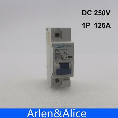 1P 125A DC 250V Circuit breaker FOR PV System
