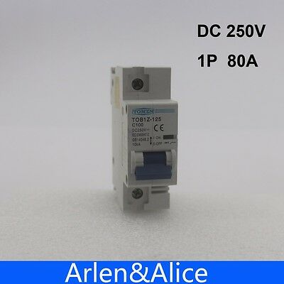 1P 80A DC 250V Circuit breaker FOR PV System