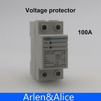 100A 230V Din rail automatic recovery reconnect under voltage protective device