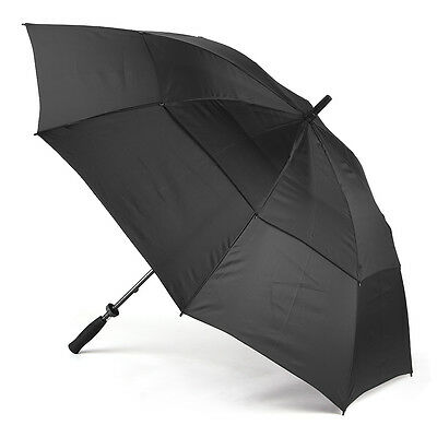 NEW Clifton Vented Golf Black Double Canopy Umbrella