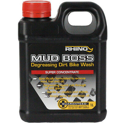 Rhino NEW 1L Mud Boss Motorbike Dirt Bike Cleaner Degreaser 1 Litre Concentrate