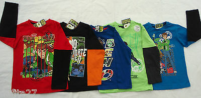 Boys Long Sleeve Top T-Shirt Ben 10 Licensed Size 3,4,5,6,7,8,10 Clearance Sale!