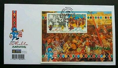 Malta Carnivals 2001 Enjoy Festival Celebration (miniature FDC)