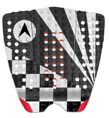 Astrodeck John John Surfboard Tail Pad In White-Grey- Red From Astodeck (808-1)