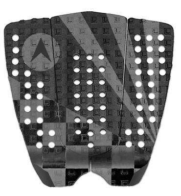 Astrodeck Grip John John Surfboard Tail Pad In Black Charcoal Grip (808-3)