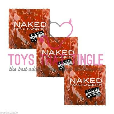 Four Seasons Naked Pink Strawberry Condom