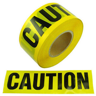 Yellow Caution Tape 7.5CMX100M CAUTIONTAPE Roll Safety Barrier Police Barricade