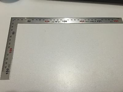 (1)300mm Angle Ruler L shape Shape Ruler Metal Square Measure Tool for Engineers