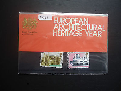 Great Britain Presentation Pack 1975 European Architectural Heritage MNH