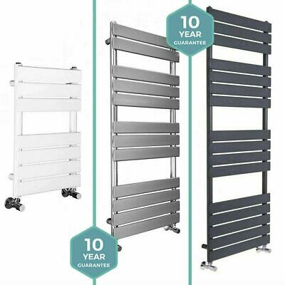 Designer Flat Panel Chrome Heated Bathroom Towel Rail Radiator
