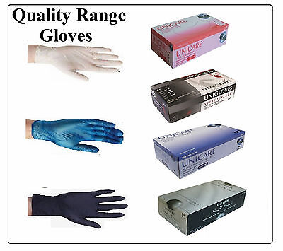 Heavy Duty Disposable Black Nitrile Latex or Vinyl Gloves Powder Free 500 1000