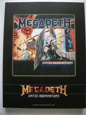 Megadeth United Abominations Japan Band Score Guitar Tab