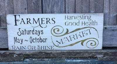 Farmers Market Sign, Rustic Kitchen Sign, Farmers Market, Wood Market Sign