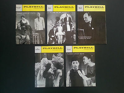 5 Vintage Playbills from Broadway theatre productions 1959  Inv. 1920