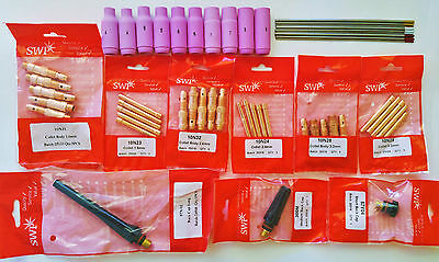 TIG Welding Torch WP17, WP18, WP26 Consumables Kit (46pcs)