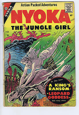 Nyoka the Jungle Girl #21 Charlton 1957