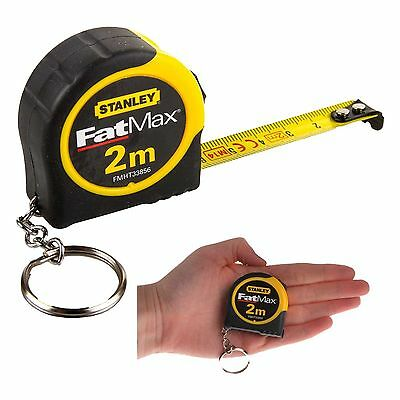 Stanley Fatmax 2m Metric Tape Measure - 2 m Metre Pocket Key Ring 1-33-856