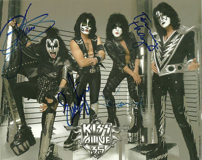 KISS BAND ALIVE 35 signed Autographed Photo REPRINT RP Paul Stanley Gene Simmons