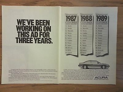 Original 1989 Acura Vintage Print Ad 2 pages