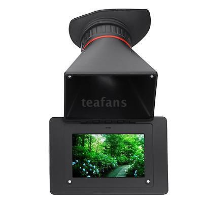 FEELWORLD S-350 2.5X Magnification SDI Electronic View Finder for DSLR BMPC W5U4