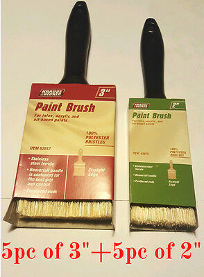 "10 brushes Mix 3"" and  2"" Professional Paint Brush Synthetic All Purpose"