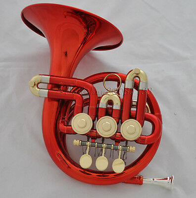 High grade Red Bb MINI French horn with Case mouthpiece