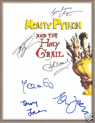 "John Cleese Graham Chapman Signed ""monty Python And The Holy Grail"" Script Rpt"