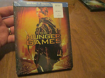The Hunger Games Blu-ray Disc, Steelbook Edition NEW FACTORY SEALED US RARE