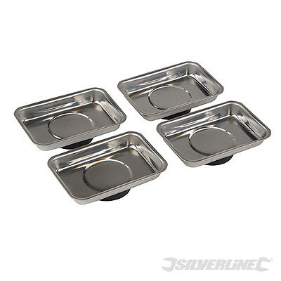 Silverline 250007 Magnetic Tray Set 4pce 95 x 65mm
