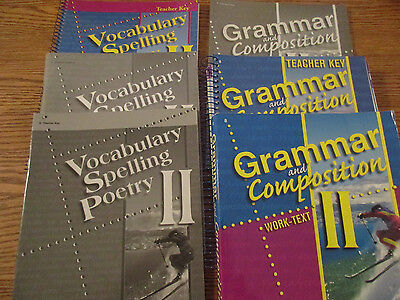 Abeka 8th Grade Grammar and Comp II Student Quiz/Test Book And Teacher Key
