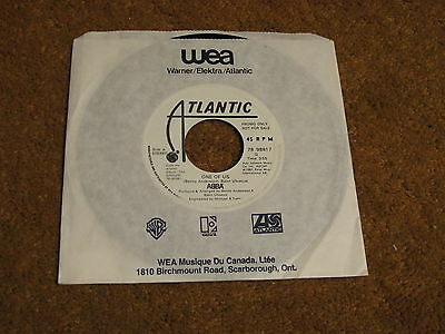 Abba/ One Of Us/ Atlantic/ 1981/ Canada/ Rare Promo/ WLP/ NM-