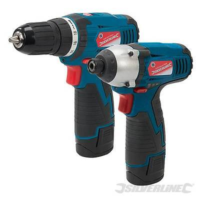 Silverline 264995 Silverstorm 10.8V Drill Driver & Impact Driver Twin Pack Screw