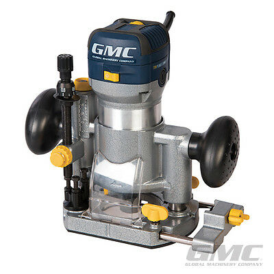 "GMC 732455 710W Plunge & Trimmer Router 1/4"" GR710 Collets Woodwork Joinery"