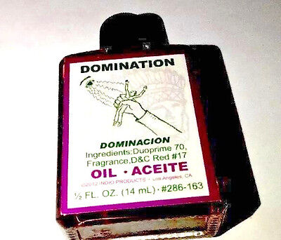 Indio Domination Oil - 0.5oz Glass - Wicca Hoo Doo Annoint Dress Candles Control