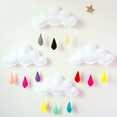 Cloud Raindrop Removable Kids Baby Room Nursery Wall Decal Stickers Art Decor