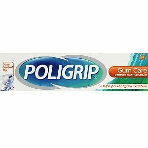 Poligrip Denture Fixative Cream Gum Care 40g