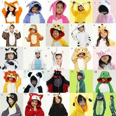 Children Kid Boy Unisex Pajamas Kigurumi Cosplay Animal Costume Onesie Nightwear
