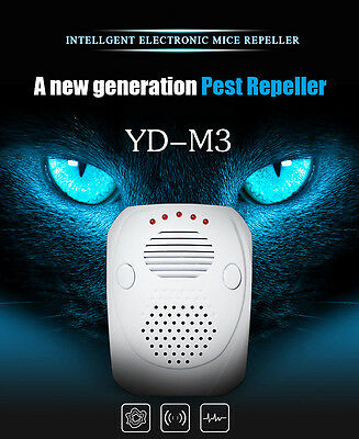New Pest Repeller Electronic Ultrasonic Mouse Rat Mosquito Insect Rodent Control