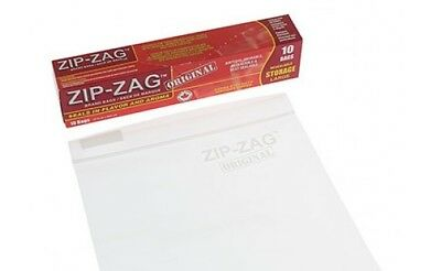 3x Zip Zag Smellproof Bag - Large Air Tight Smell Proof Food Bag 27cm x 28cm