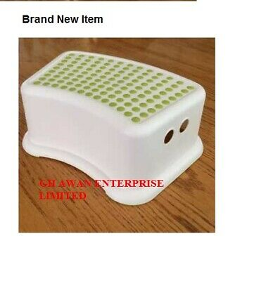 FORSIKTIG Baby Kids Children Bathroom Kitchen Foot Step Stool,White Green,Soft