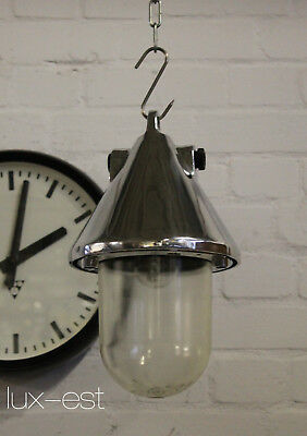 """1of 6 """"THALE ICE NAKED S"""" Industrie Lampe Bunker Fabrik Industrial Light Fixture"""