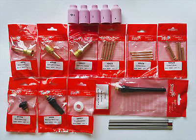 30pcs. TIG Consumables Kit for Welding Torch WP17, WP18, WP26 HIGH QUALITY