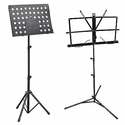 Music Conductor Stand Tripod Base Sheet Holder Adjustable Heavy Duty Foldable