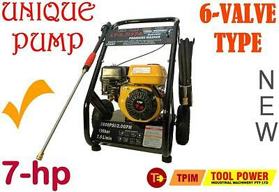 Pressure Cleaner Water Blaster 7-hp FAR BETTER = H-DUTY pump + TURBO + Long Hose