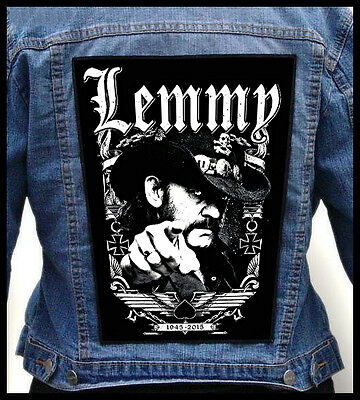 LEMMY KILMISTER --- Giant Backpatch Back Patch / Motorhead Girlschool Venom Tank