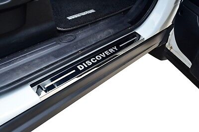 Stainless Door Sill Kick Step Scuff Plate Protector for Land Rover Discovery 3 4