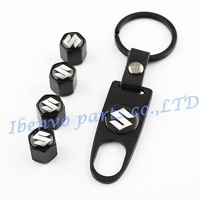 Key chain Metal Car Wheel Tyre Tire Stem Air Valve Cap For SUZUKI Vehicles