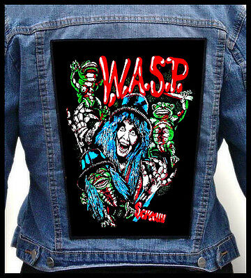 W.A.S.P. - Scream --- Giant Backpatch Back Patch / Mötley Crüe Twisted Sister